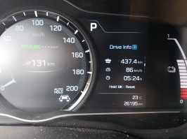 Od doma do OMV / McDonald's-a: 437,4 km in 5h ter 24 minut vožnje