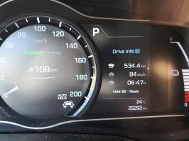 Od doma do Lidl Brno Osová prevoženih 534,4 km - skupno na poti že 6 ur in 47 minut