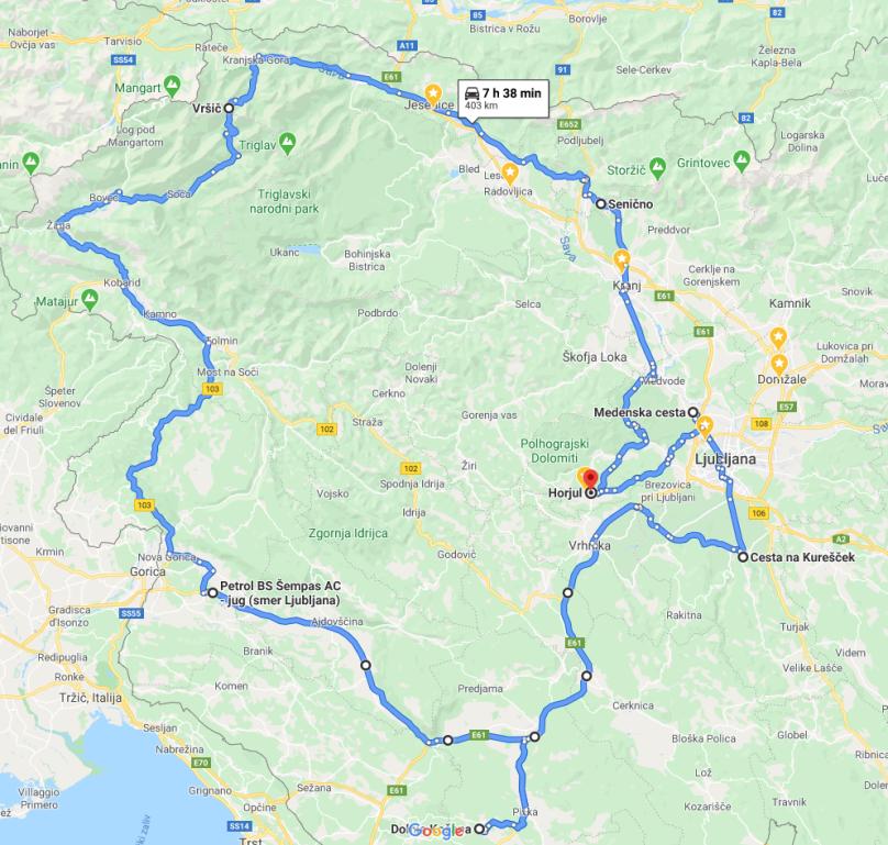 Zemljevid poti